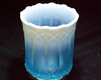 Fenton Blue Opalescent Spooner