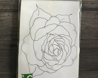 Impression Obsession Lg Outline Rose Stamp