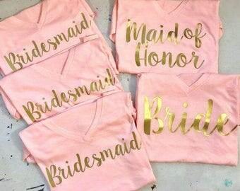 WEDDING, BRIDESMAIDS SHIRTS