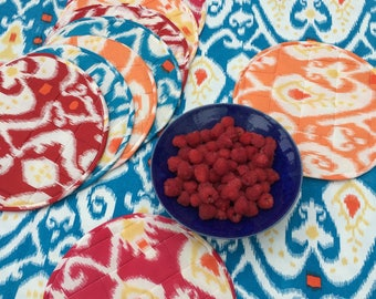 Ikat cotton quilted placemats