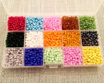 Slime Beads | Beads for Slime | Small Mini Slime Beads Cheap | 15 Different Solid Colors | About 390 Pieces Each Color