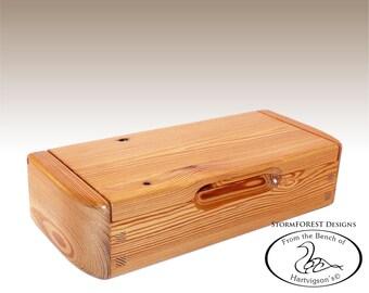 Antique Reclaimed Heart Pine Mini Chest/Desk Box, Made in Alaska, Ser.#SB2016-0811