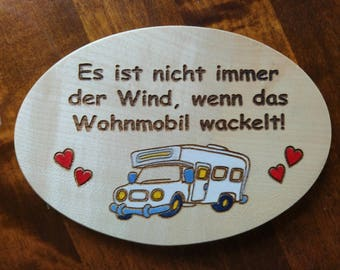 Sign for home - motorhome - caravans - campers, or as a gift