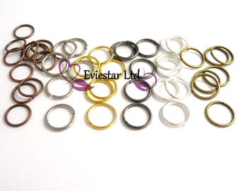 Iron Metal Jump Rings, Open Jump Rings, 12mm Diameter, Thick 1.2 ~ 1.5 mm, Jewellery Findings, Close but Unsoldered, MNO