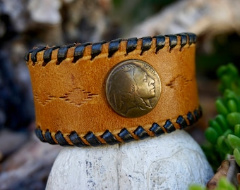 "Handcrafted Leather Bands ""THE WARRIOR"""