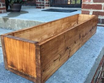 Handmade Wood Planter Boxes