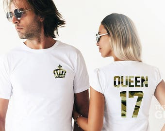 King and queen couples shirts king and queen shirts funny couples shirts anniversary gift couples matching shirts honeymoon shirts wedding
