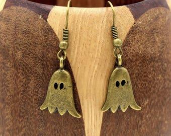 Earrings bronze ghost, Ghost haloween