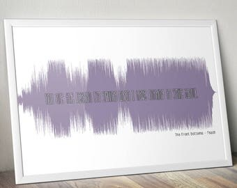 The Front Bottoms Peach Soundwave Anniversary Poster Gift Audiophile