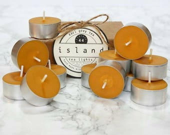 earl grey tea scented soy tea lights