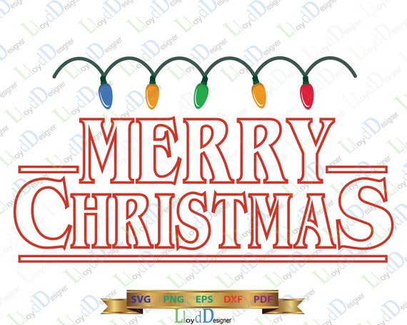 Christmas Gifts Svg Stranger Things Svg Merry Christmas