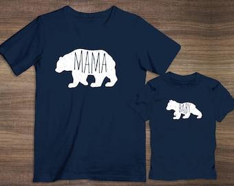 Mama Bear and Baby Bear Matching T-Shirts / Onesie | Bears | Funny Shirts | Matching Shirts
