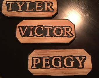 Custom Wood Name Signs Personalized