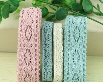 5yards/lot Cotton Lace Trim DIY garment accessories color lace fabric-POOP6