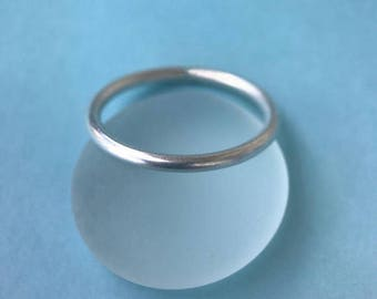Plain Sterling Silver Band, Stacking Ring