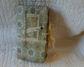 Journal, Vintage, personal size, handcrafted writing journal
