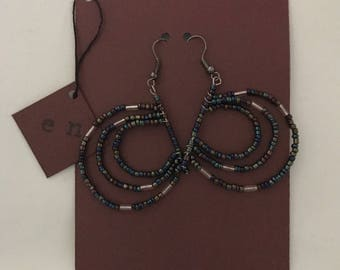 "Beaded ""C"" earrings"