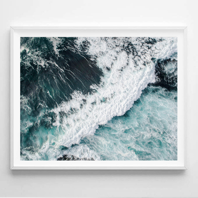ocean print ocean photo ocean art waves photo wave print