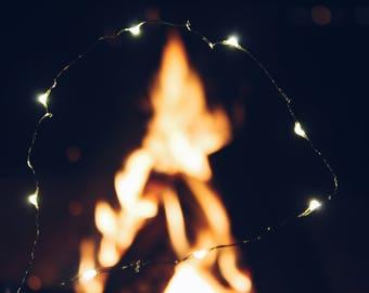 bonfire and lights
