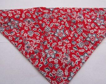 Red Floral | Dog bandana