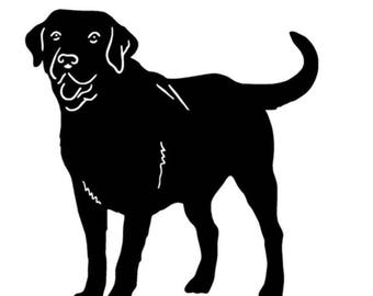 "Blabk Labrador decal 5"" x 5"""