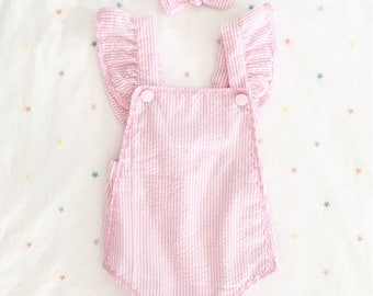 Break's girl / baby pink striped