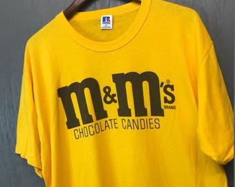 XL vintage 80s M&M's chocolate candy t shirt