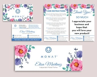 Monat Starter kit, Custom Monat Business Card, Monat Hair Care, Monat Global, Monat starter Pack, Printable Card MN05