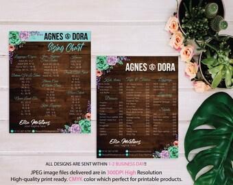 Both Card, Agnes and Dora Size Chart, Agnes and Dora Price List, Custom Agnes Dora Cards, Digital Agnes and Dora, Printable File AG09