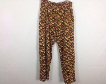 Flame fire pants size L