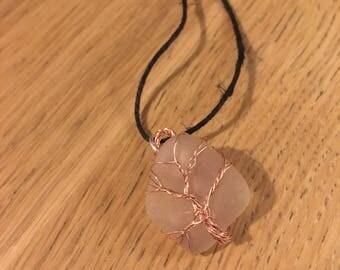 Unique seaham seaglass necklace
