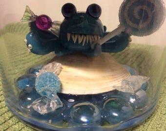 Crypto Collection - Sugarpus! - clay monster - Halloween - horror - handmade - sculpture - octopus - ocean - sea life - mini - candy - sweet