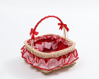 RATTAN basket storage