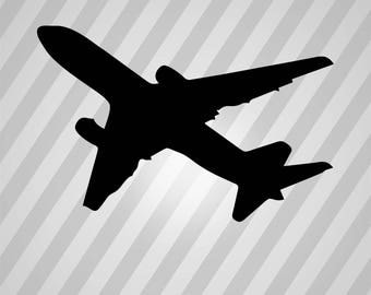 Airplane Silhouette Boeing 747 - Svg Dxf Eps Silhouette Rld Rdworks Pdf Png Ai Files Digital Cut Vector File Svg File Cricut Laser Cut