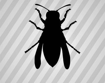 hornet Silhouette - Svg Dxf Eps Silhouette Rld RDWorks Pdf Png AI Files Digital Cut Vector File Svg File Cricut Laser Cut