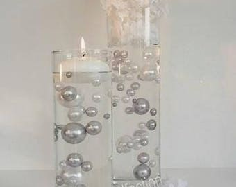 Silver Pearls/Grey Pearls Pearls & White Pearls in Jumbo and Assorted Sizes Vase Fillers for Centerpieces