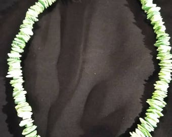 Green Italian Coral Necklace