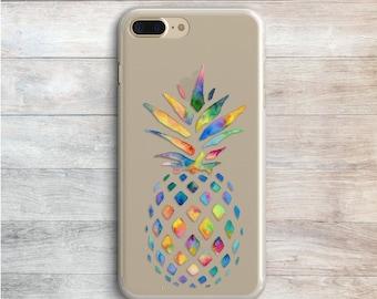 Watercolor Fruit Case iPhone 7 iPhone 7 Plus Samsung S8 S7 S6 Galaxy J7 J5 Pineapple iPhone 6 SE Case iPhone 6 Plus Fruit iPhone X iPhone 8