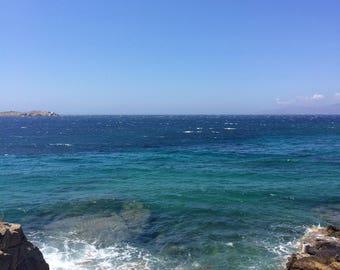 Mykonos beach scene