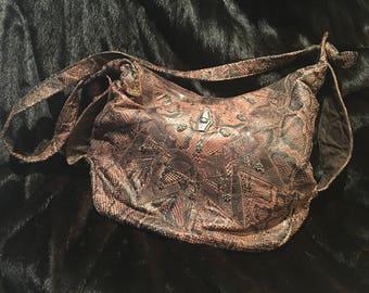 Viva Brown Snakeskin Handbag