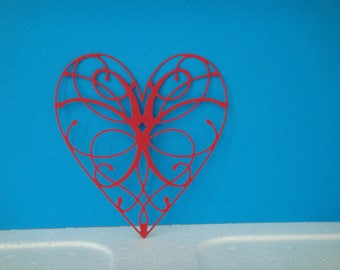 Cut for scrapbooking and card red heart