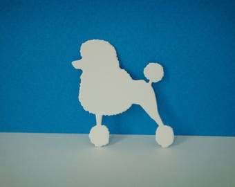 Cut poodle creation white drawing paper