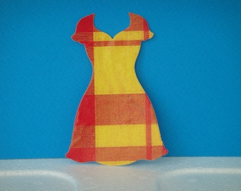 """Dress cut """"V"""" madras for scrapbooking and card"""