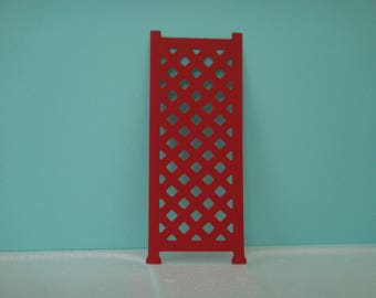 Red mesh for climbing flowers cutout