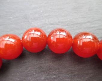 carnelian: 2 mm round beads 12 - gemstones Rusty