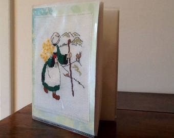 Embroidered cover snipe photo album