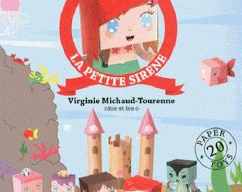 The Little Mermaid - cut, fold, glue, play! (PIN) Virginia Michaud Tourenne