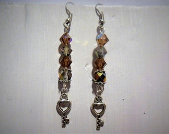 Earring beads and key