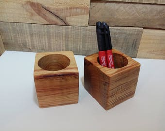 Natural wood pen / pencil holder
