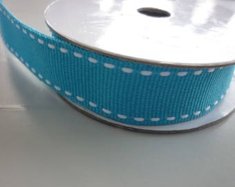 1 meter Ribbon grosgrain blue